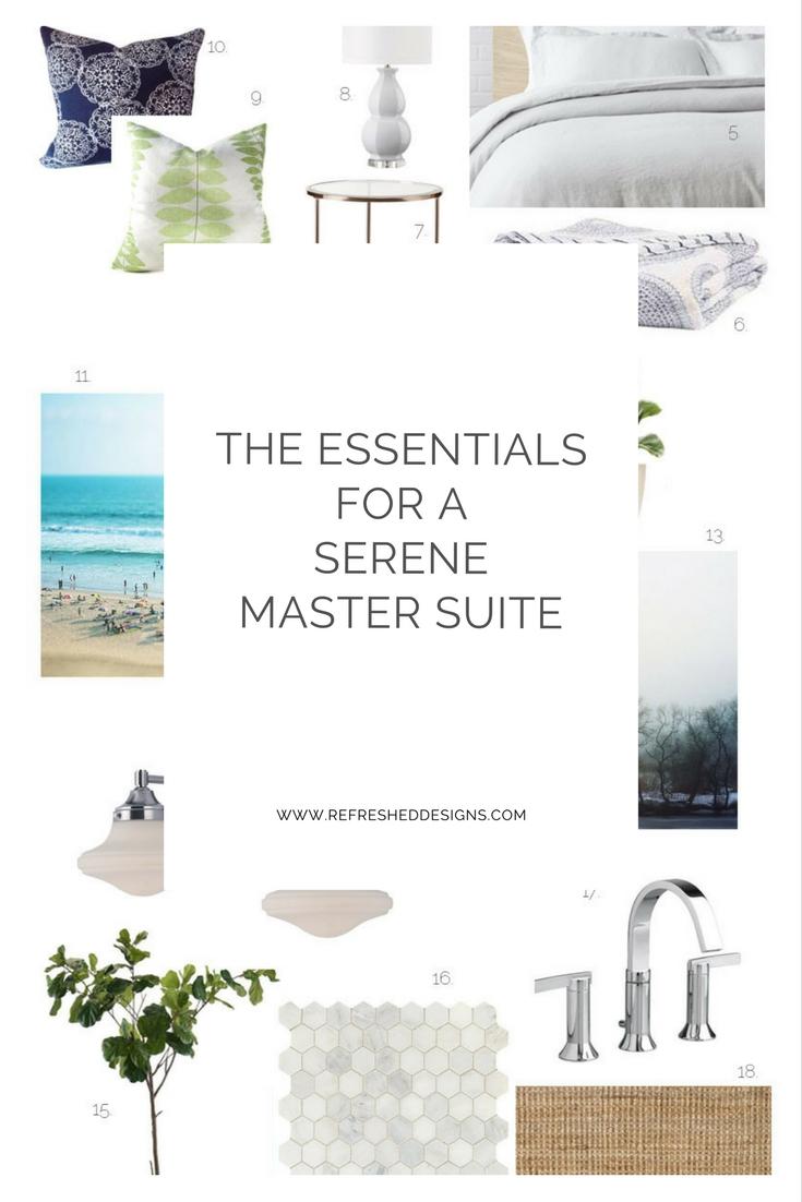 Essentials for a Serene Master Suite