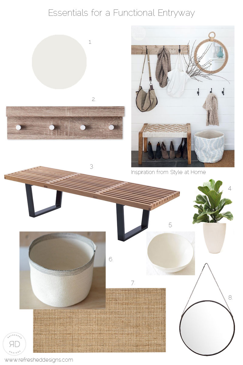How to design a functional and simple entryway - designboard and sources