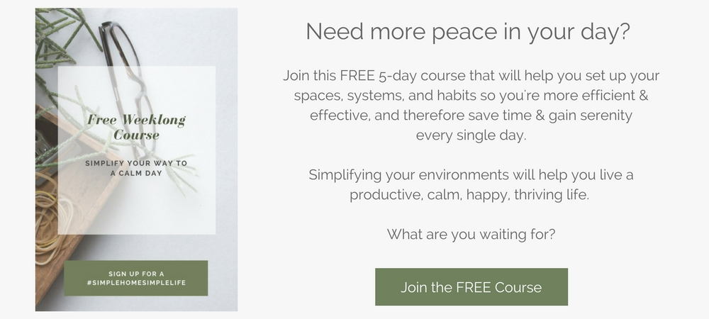 free course: simplify your way to a calm day