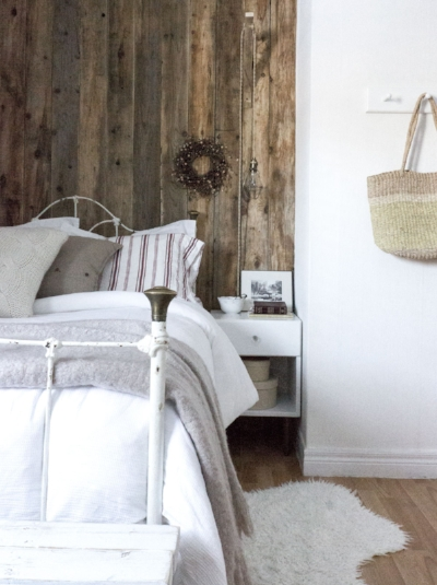 modern rustic guest bedroom