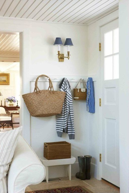 tricks to keep a small summer entryway organized