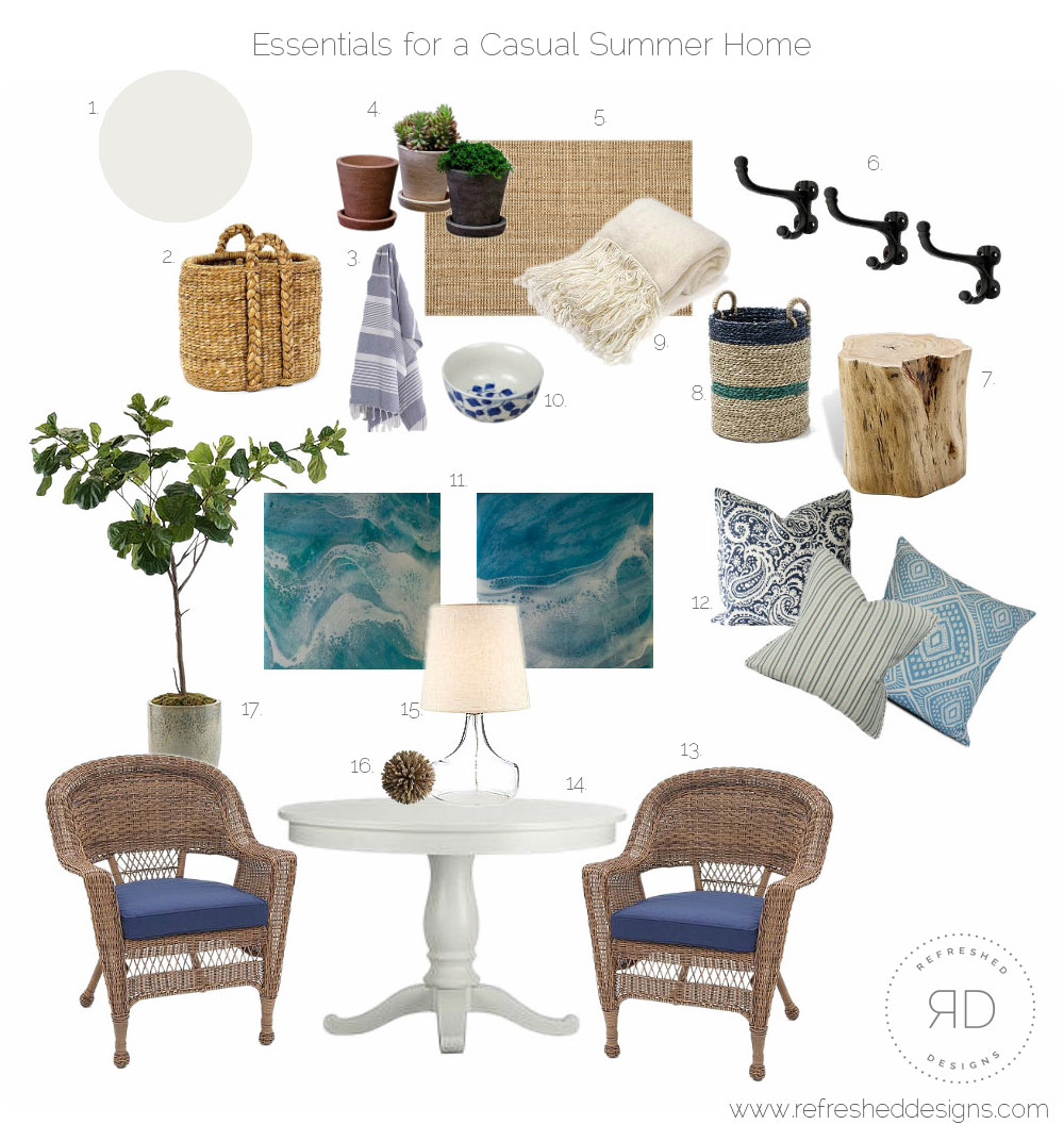 Essentials for a Casual Summer Home (Canadian Edition)