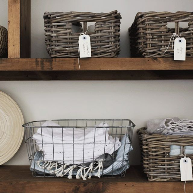 baskets in kitchen to hold napkins