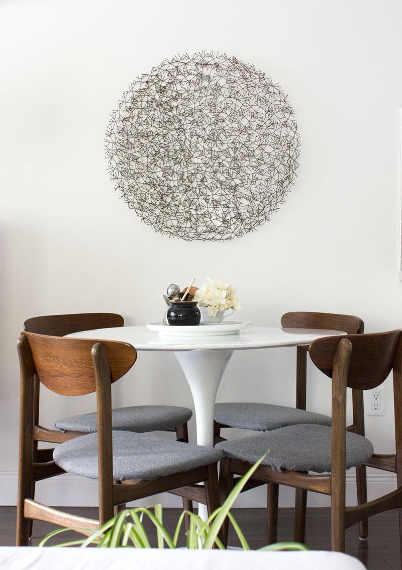 mid-century modern dining nook