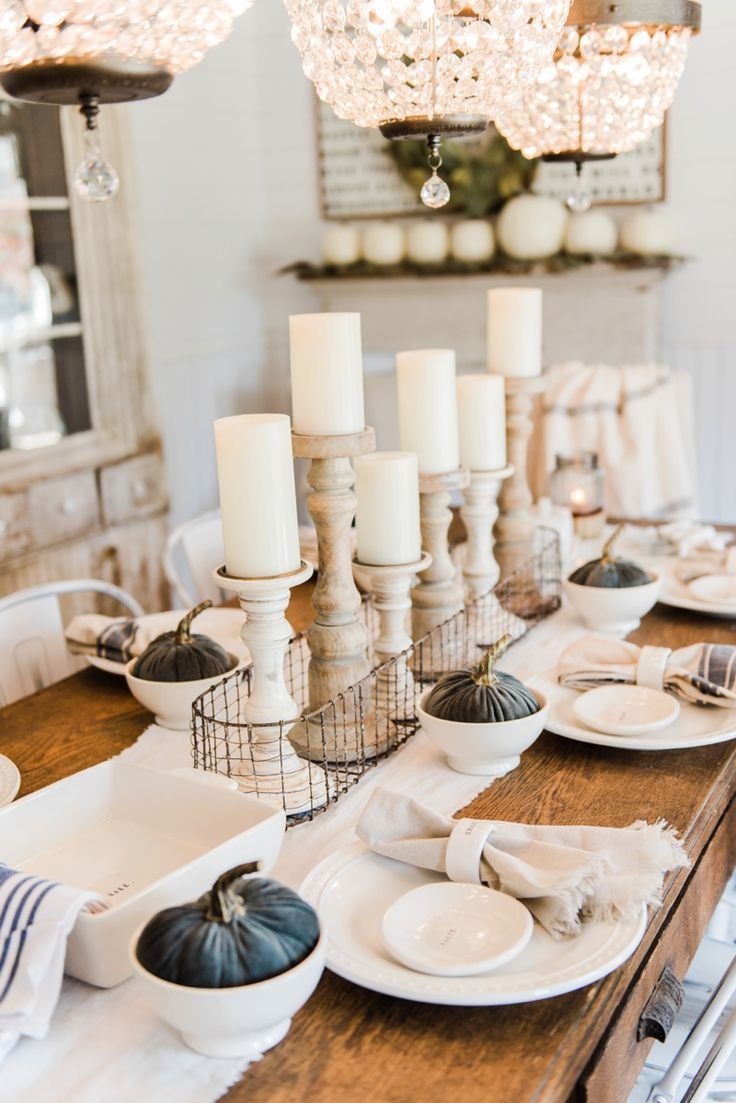 simple and natural fall tablescape
