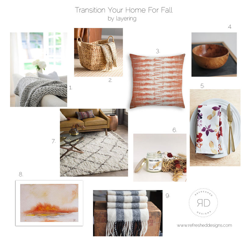 sources for Fall home decor online