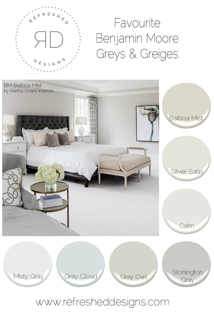 The best grey paints - Benjamin Moore favourite greys