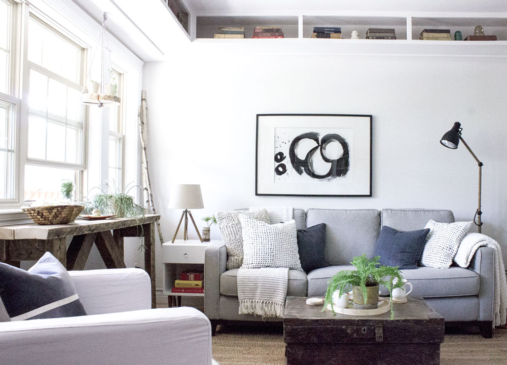 how to create a light, bright, white home that's still cozy and warm
