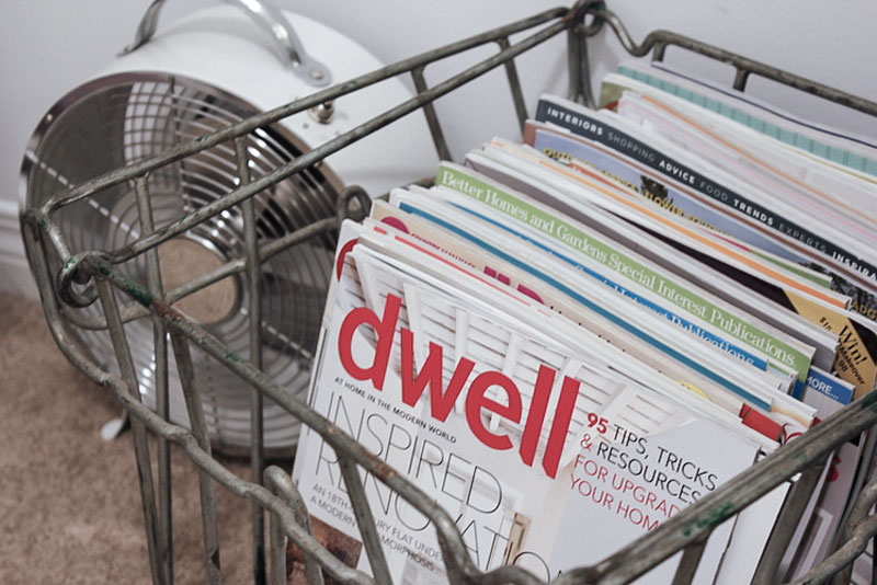 how to declutter and store magazines