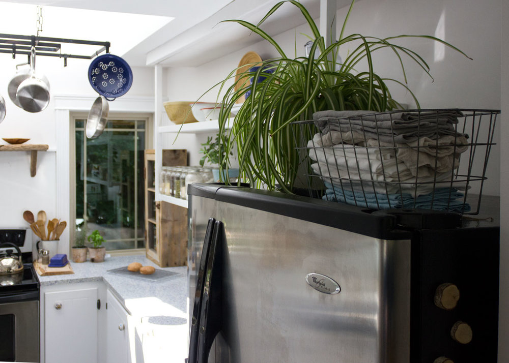 What to do with the awkward space above the fridge