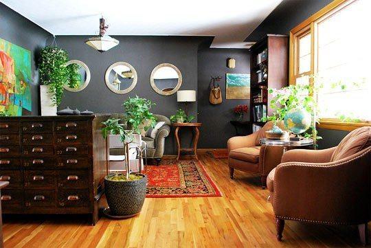 Living Room Paint Color Ideas With Wood Trim Grey Hardwood Floors