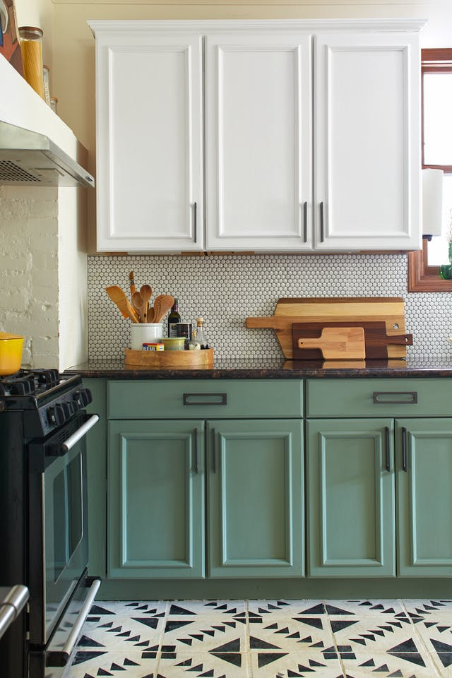 green and white painted cabinets.jpg