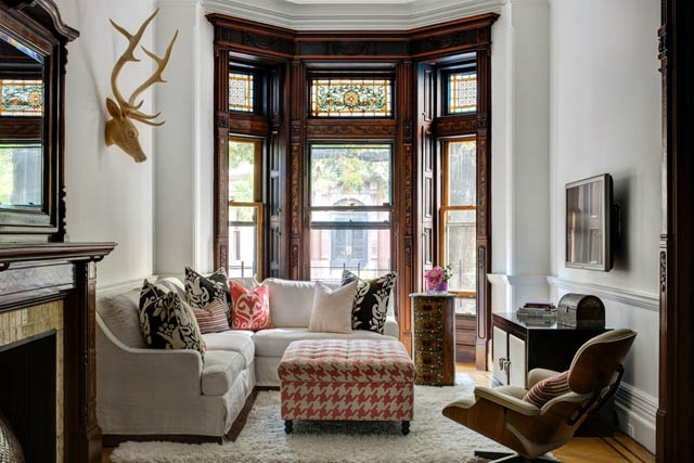 living happily with wood trim