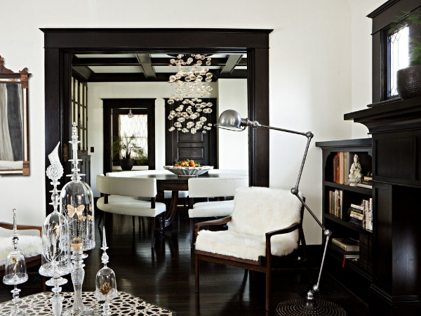 Jessica Helgerson Design Keeping Dark Wood Trim With White Walls