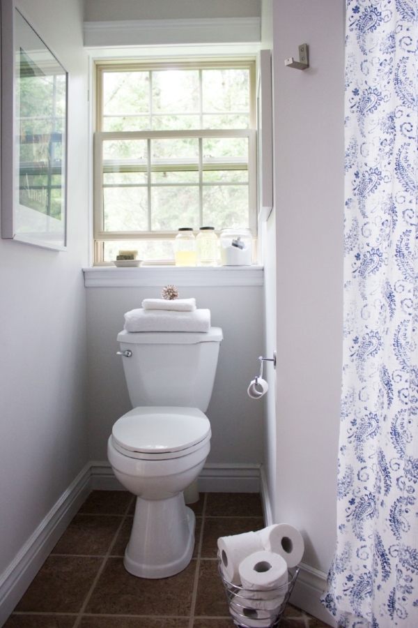 CIL/Dulux Raindrop White - my bathroom