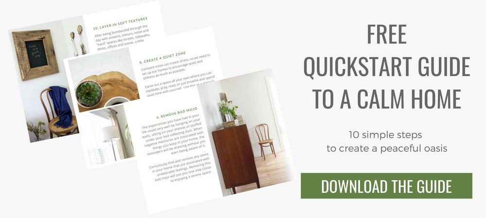 free quickstart guide to a calm home