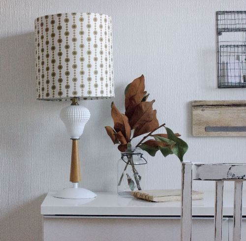 DIY vintage lamp and shade refresh - see tutorial