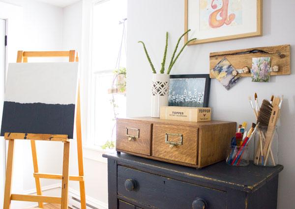 DIY painting corner at home