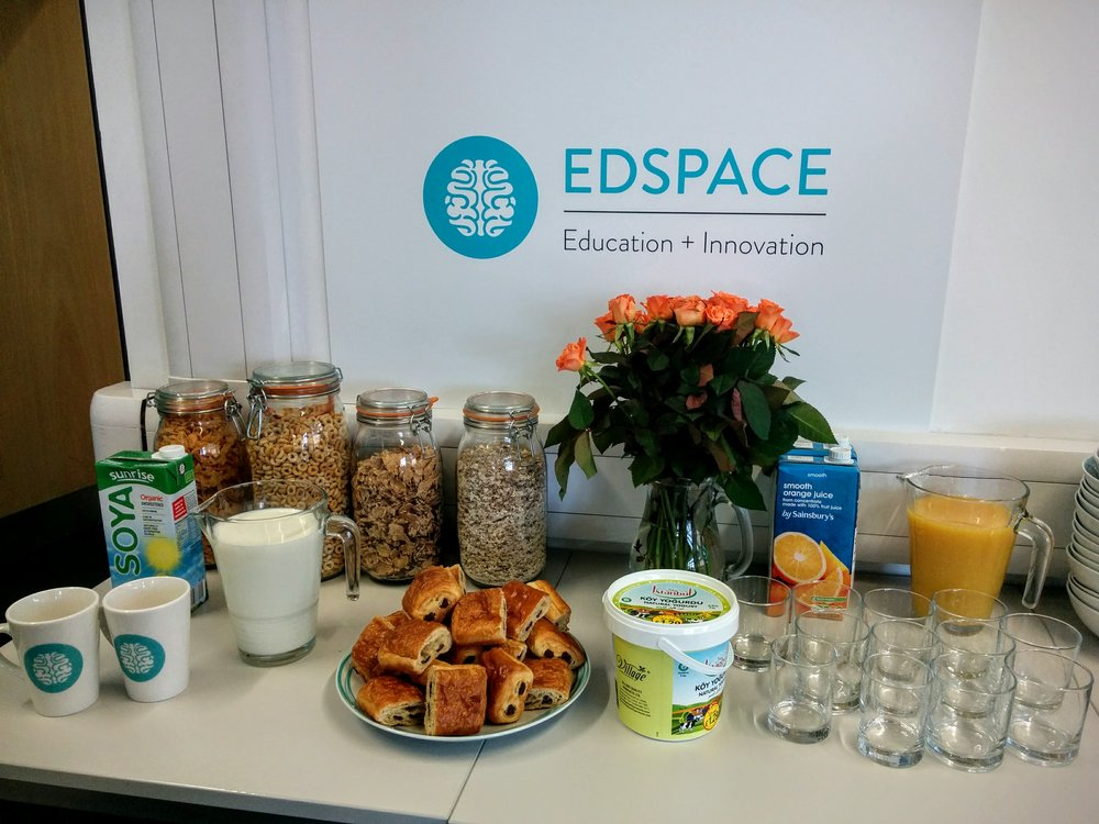 Curious about joining Edspace? Join us for breakfast + 1/2 day work pass.