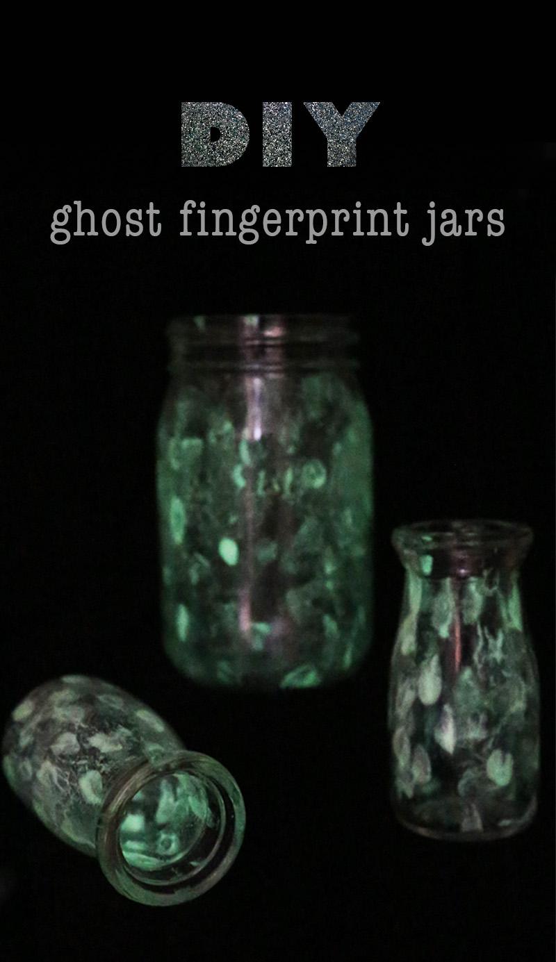 DIY ghostly halloween jars