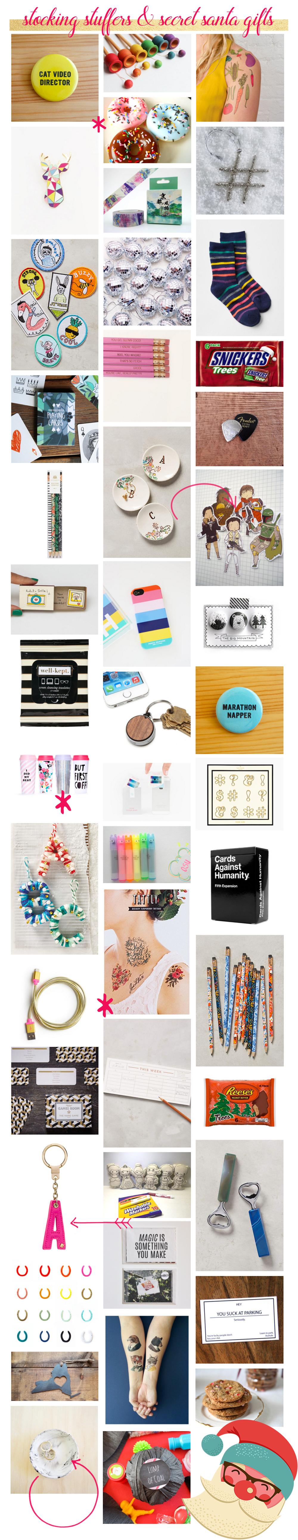 Stocking Stuffers + Secret Santa Gifts