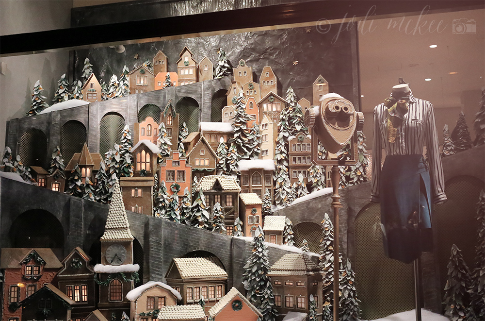 holiday window at anthropologie, rockefeller center, new york city