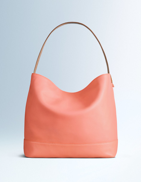 Fearne Slouchy Bag, Summer Apricot/Tan, Boden