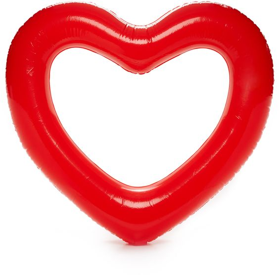 BEACH, PLEASE! JUMBO HEART INNER TUBE