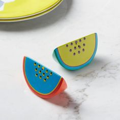 Melon Slice Salt + Pepper Shakers