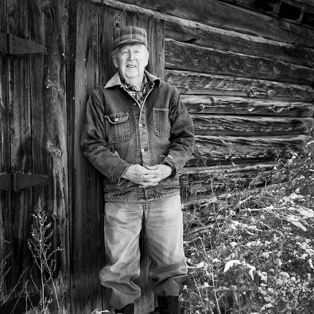 Burchell Hopkin, third generation farmer on his grandmother Mary's original homestead.
