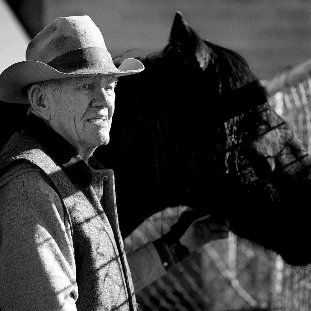 Early Jones with one of his Tennessee Walking horses. Earl passed away peacefully in 2015.