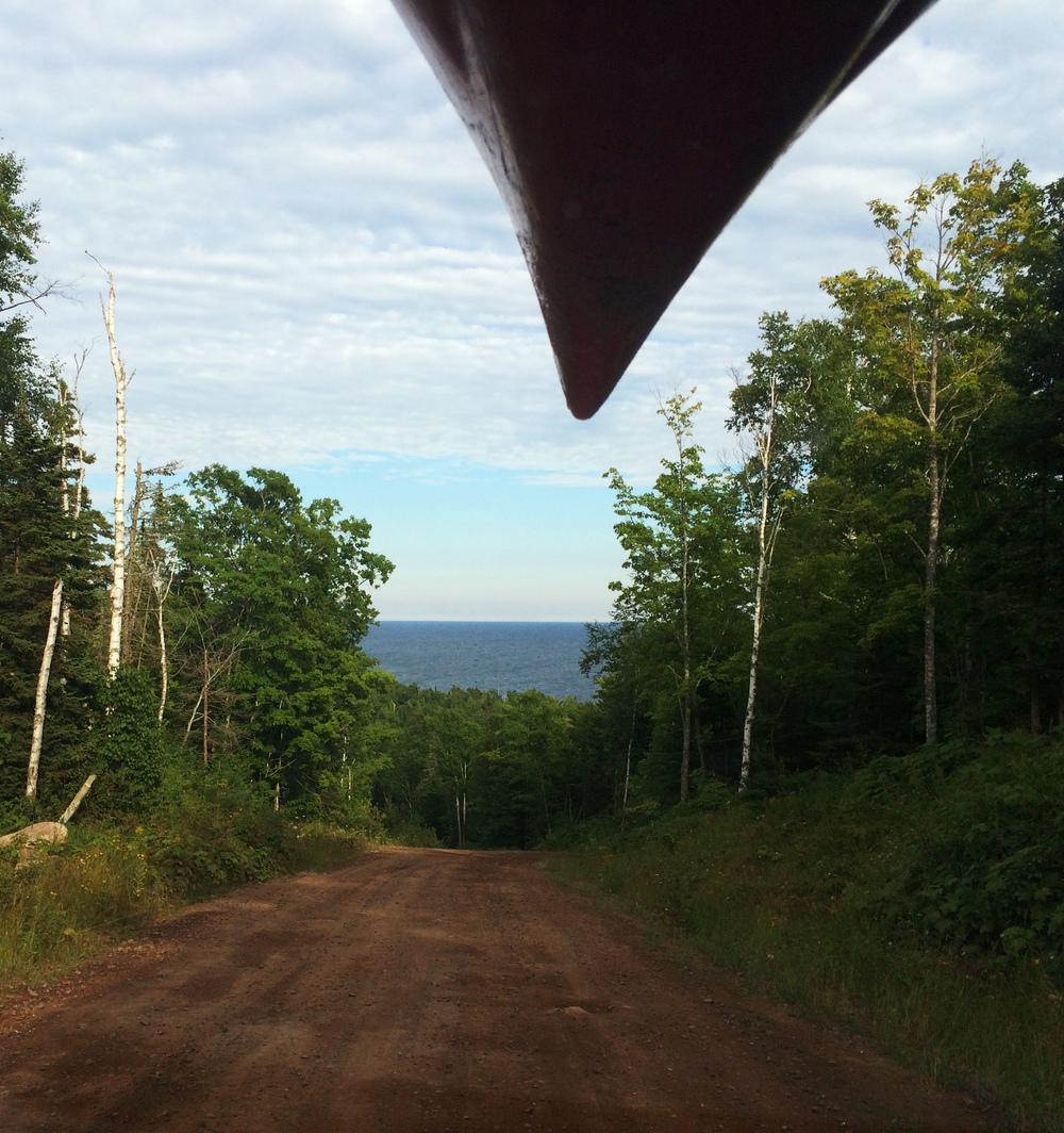 Logging roads spider through the wilderness, and provide remote launches for kayaks,