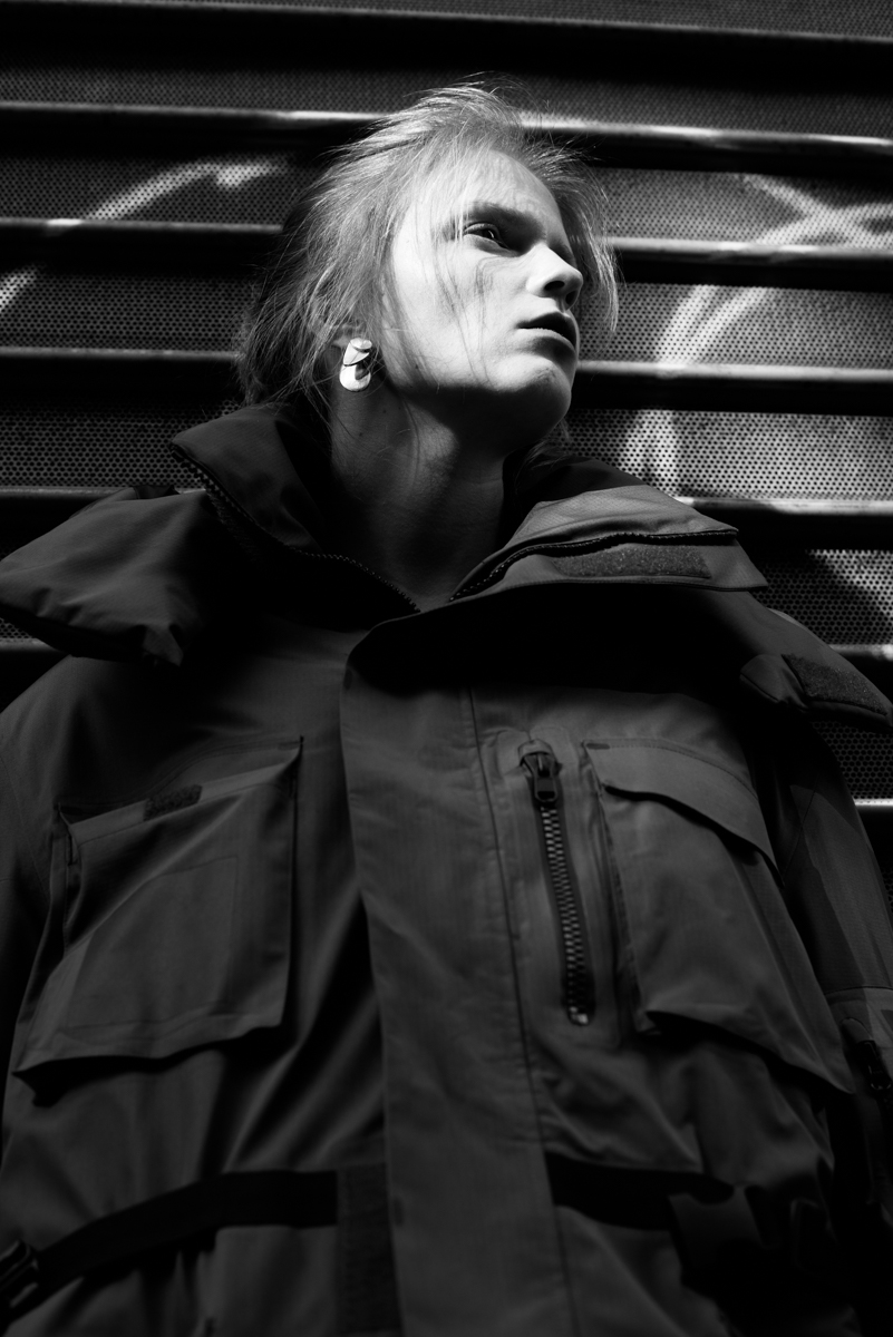 Earring and Parka - Balenciaga