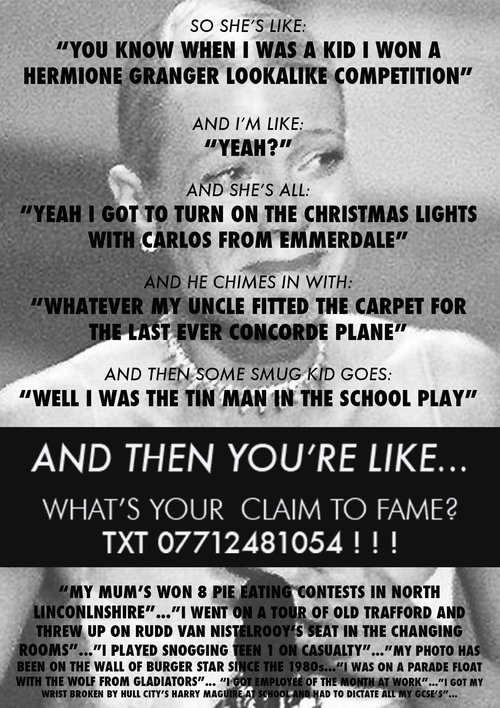 A flyer searching for claims to fame