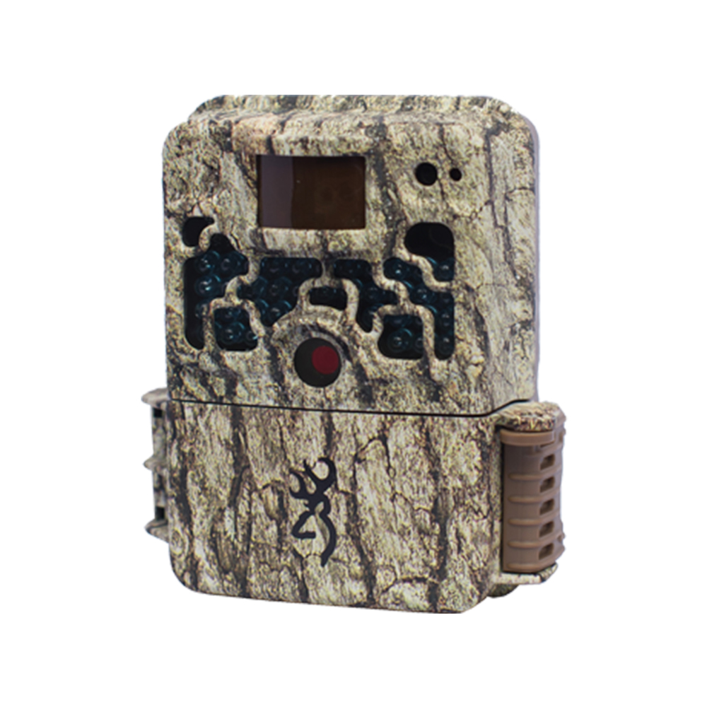 "Browning Strike Force:   Game Camera   With 10 megapixels, a lightning fast, 0.67-second trigger speed and a 100-foot plus flash range, Browning's Strike Force is the smallest high-performance trail camera in the industry. At 5""x 4""x 2.5"", the compact camera shoots HD videos up to two-minutes long with sound, has a time-lapse camera mode, and is programmable to shoot up to eight multi-shot images and up to six rapid-fire images. The camera's long battery life means you'll get up to 10,000 pictures on 6 AA batteries, and the SD card slot will accommodate up to 32GB.  The camera also includes a 12-volt external power jack, TV out and USB port. Browning Buck Watch Timelapse viewer software also included.   MSRP: $179    www.browningtrailcameras.com"