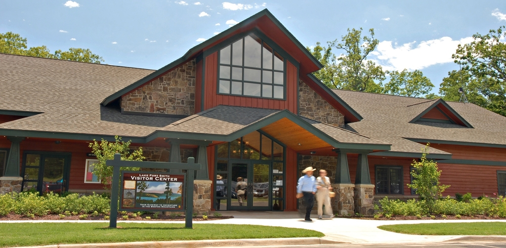 The park's visitor center offers you an orientation to Lake Fort Smith State Park, your gateway to adventure in the   Boston Mountains.