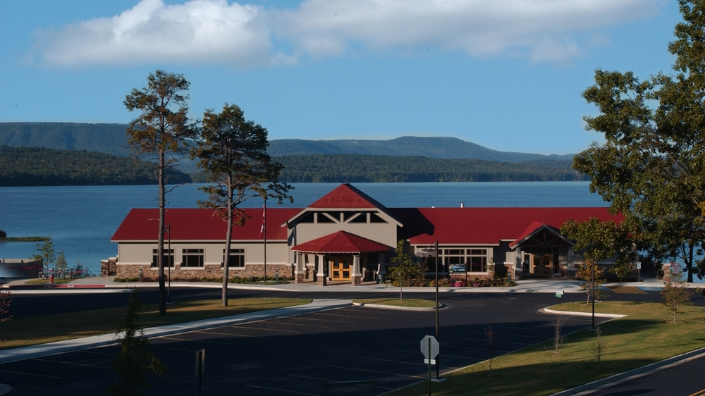 The visitors center at Lake Dardanelle State Park encompasses more than 10,000 square feet, and features a number of educational opportunities for visitors.