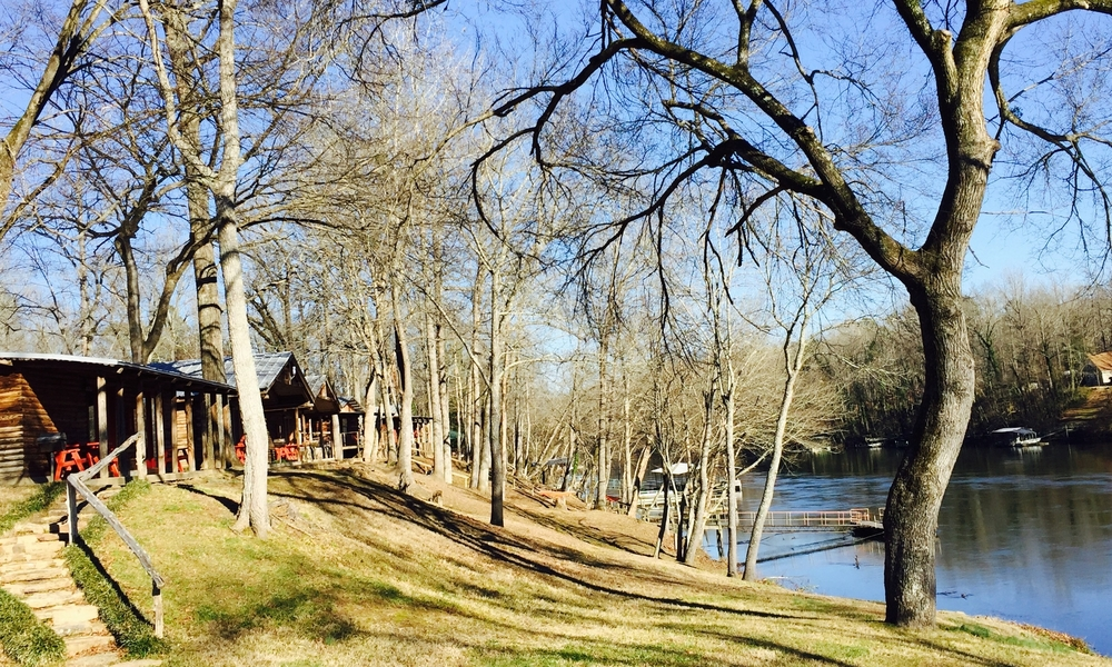 Relaxing after a day of adventure is easy at Lindsey's Resort on the Little Red River in Heber Springs.