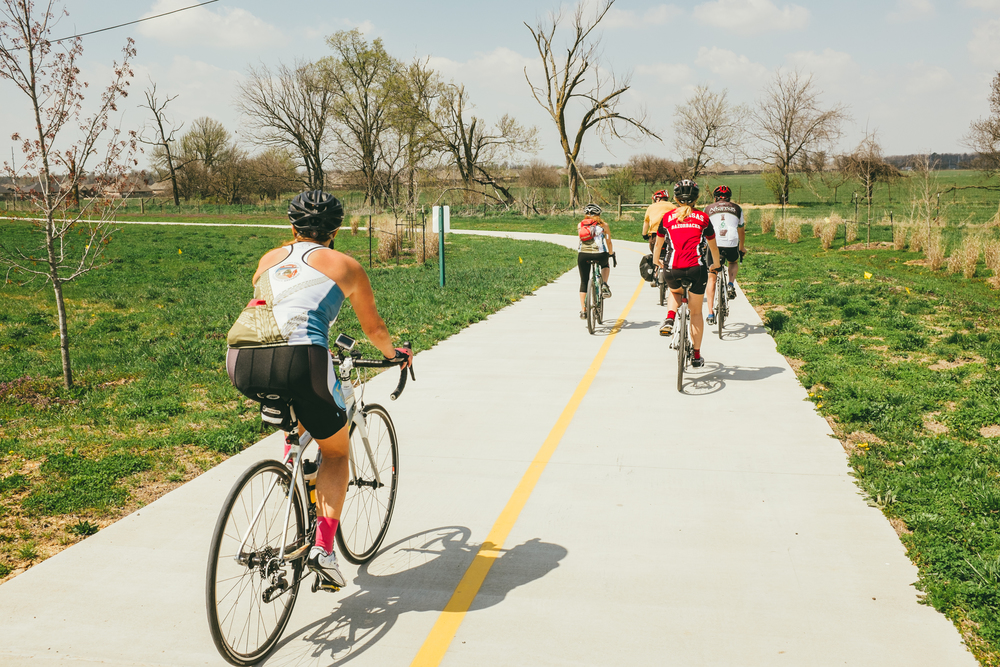Make a day of it on the Razorback Greenway.