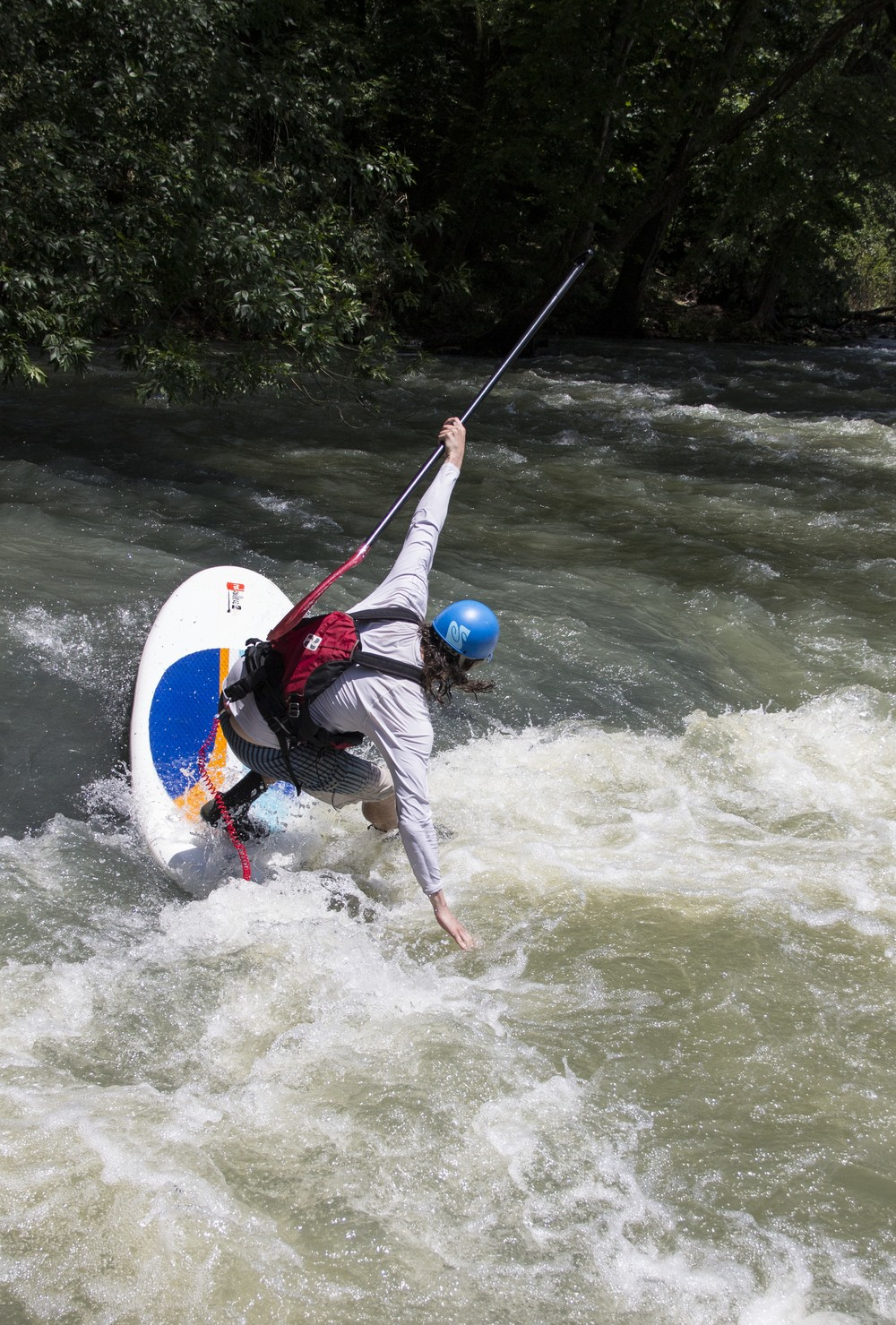 Arkansas' whitewater rivers like the Frog Bayou near Rudy make for a thrilling SUP ride.