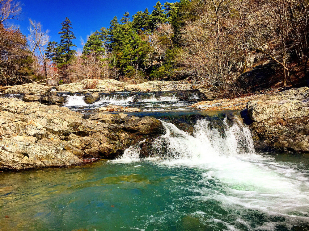 Little Missouri Falls is a true highlight of the Eagle Rock Loop Trail.