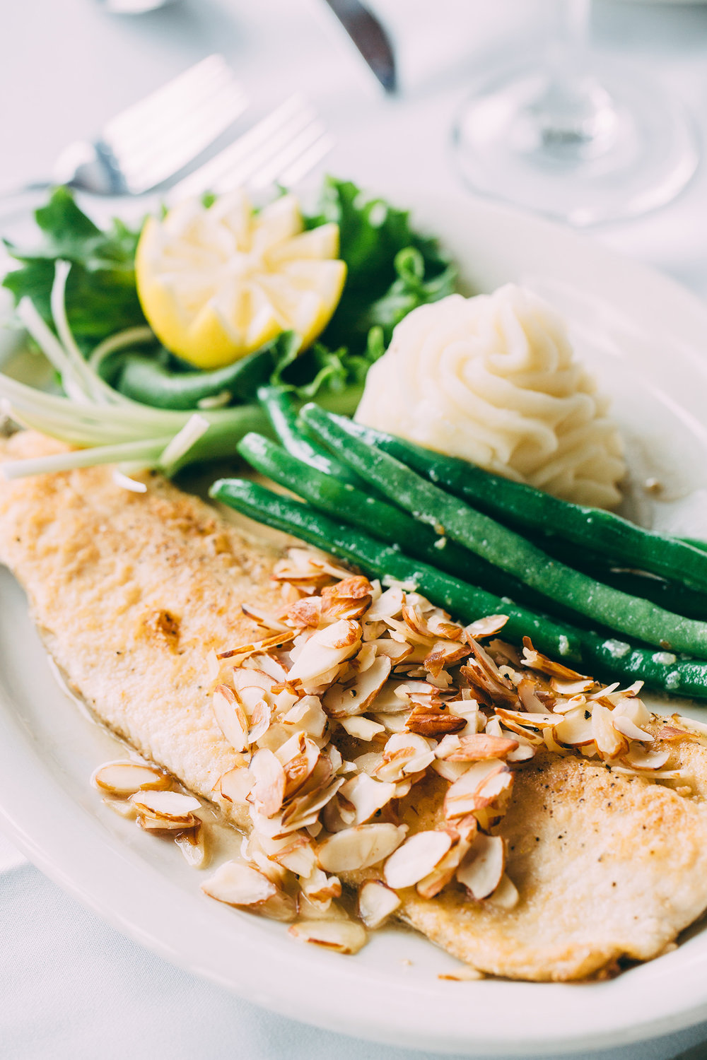Learn how to recreate this traditional rainbow trout dish from Gaston's Resort on page 18.