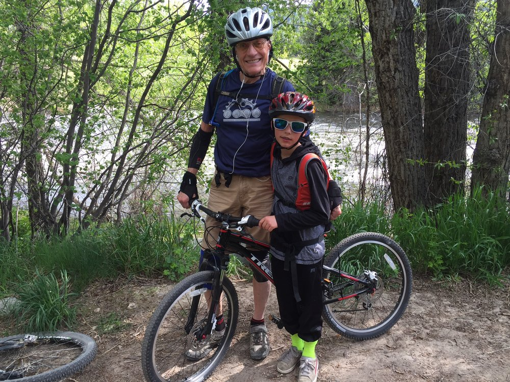 CATA vice president Mike Mitchell hopes to pass along his love of mountain biking to his grandson.