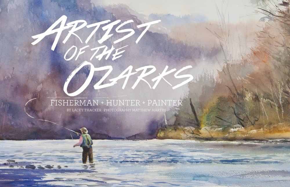 """Morning Mist"" a watercolor by Duane Hada is an example of plein air, a method in which the artist paints live subjects on site. This scene was captured at Rim Shoals on the White River."
