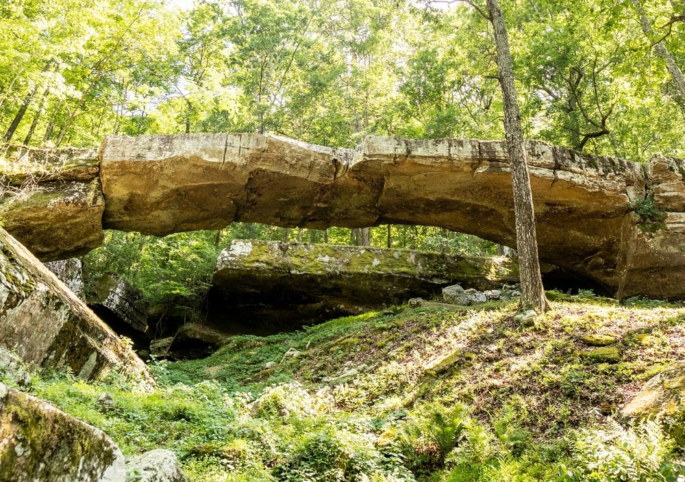 The Natural Bridge is a fun pit-stop when traveling through Van Buren County on Highway 65.