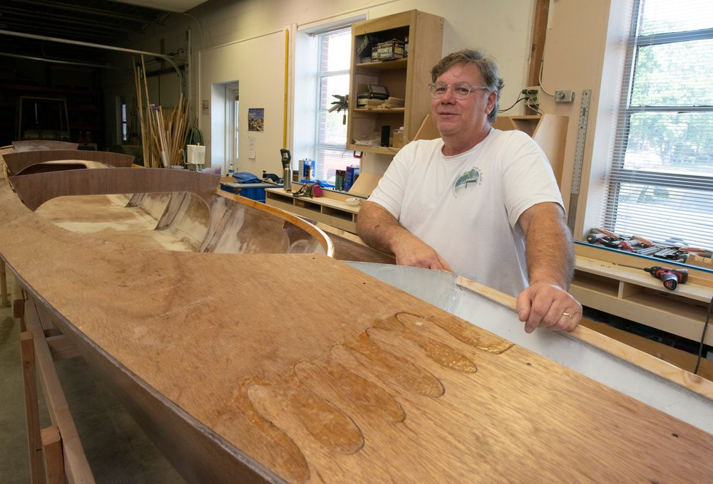 Greg Johnson of Little Rock Boat Builder Supply hopes his plywood designs will make a splash in the boat-kit manufacturing world.