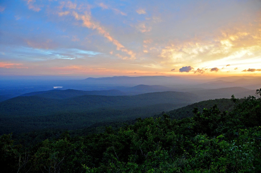 A view of the Ouachitas: From Queen Wilhelmina State Park