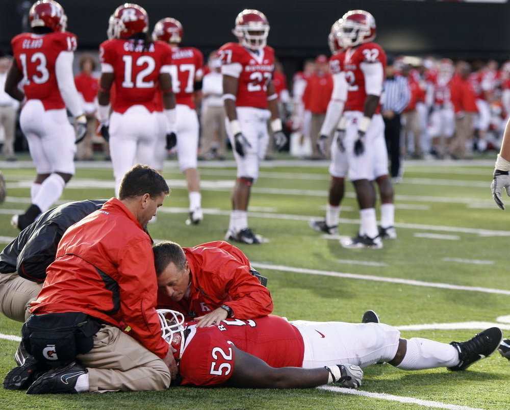 Former Rutger's player, Eric LeGrand was paralyzed during a 2010 game against Army. Photo:  ThePlayersTribune