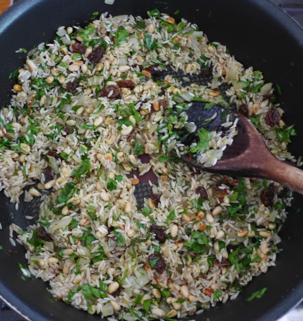 Rice before adding water