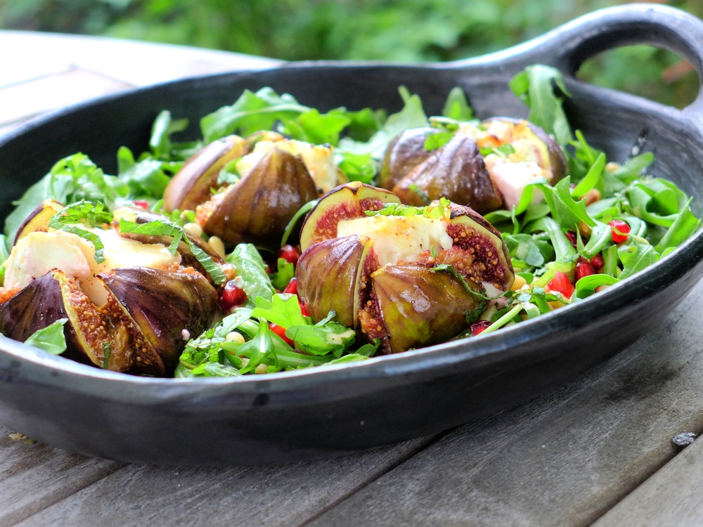 baked figs with feta